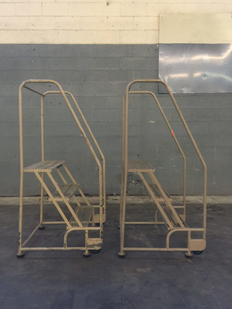 Cotterman 3 Step Rolling Ladders Qty 2 Ccr Industrial Sales
