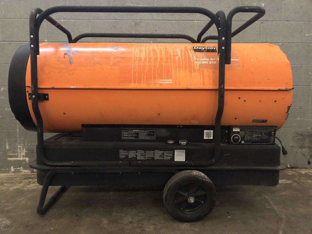 Dayton 4XA50G Portable Oil- Fired Heater