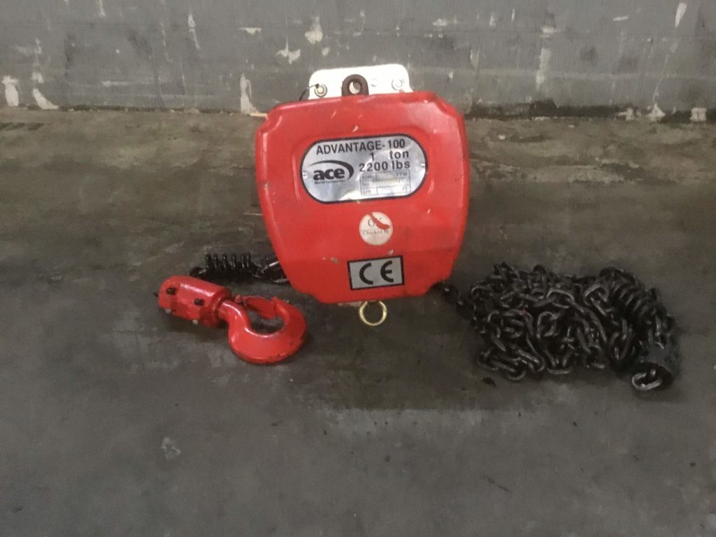 ACE Advantage 100 1 Ton Electric Chain Hoist
