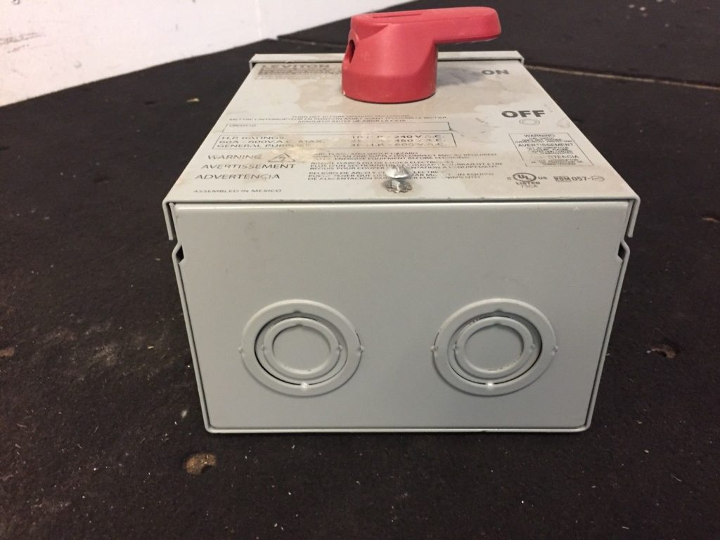 Leviton PowerSwitch Manual Motor Starter 3 Phase 60A - CCR Industrial