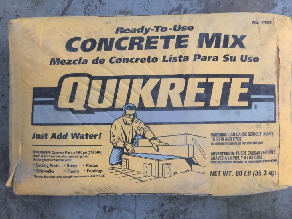Quikrete Concrete Mix 80lb Bags Qty 6