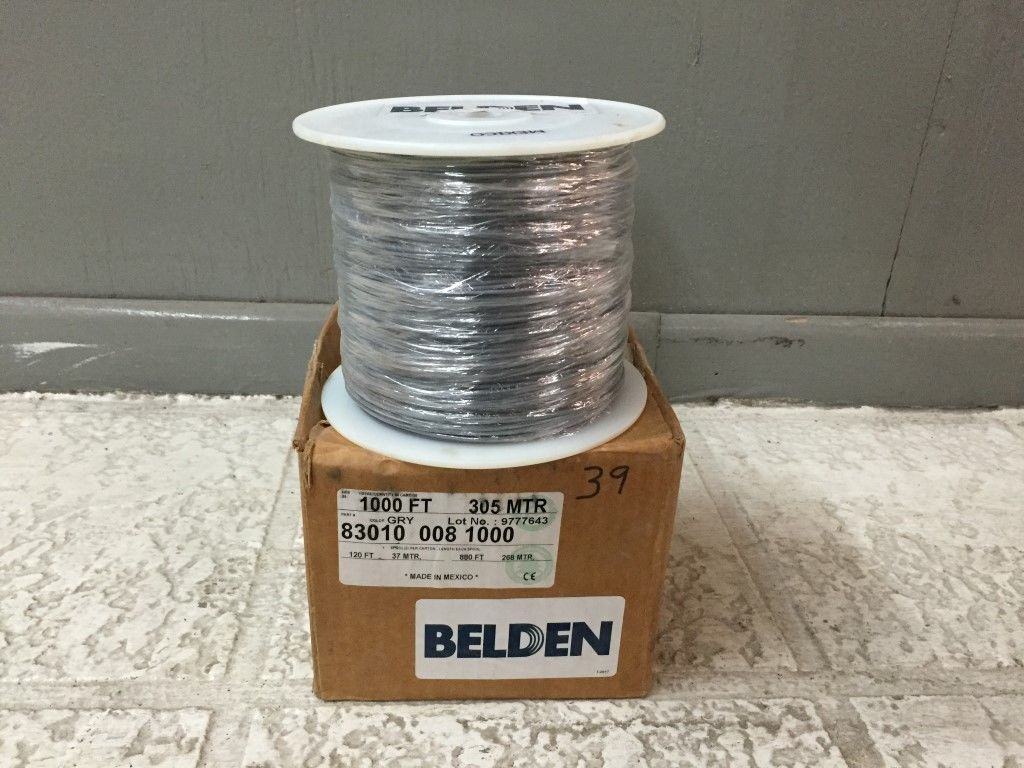 Belden Hook - Up Wire 16 AWG 1000 ft Silver Coated 83010 008 GRY ...