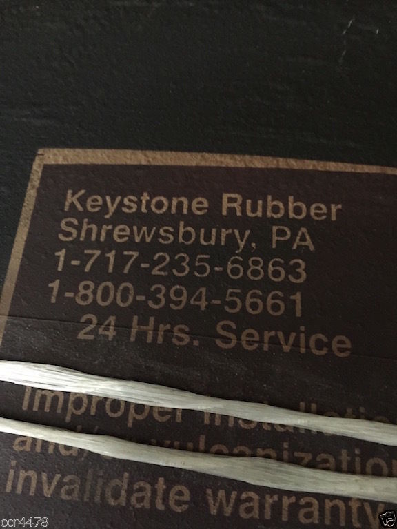 Keystone rubber quot wide joint expansion dogbone nylon