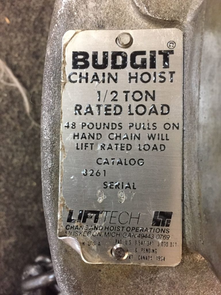 Budgit 1 4 ton chain hoist best chain 2018 for 1 4 ton chain motor