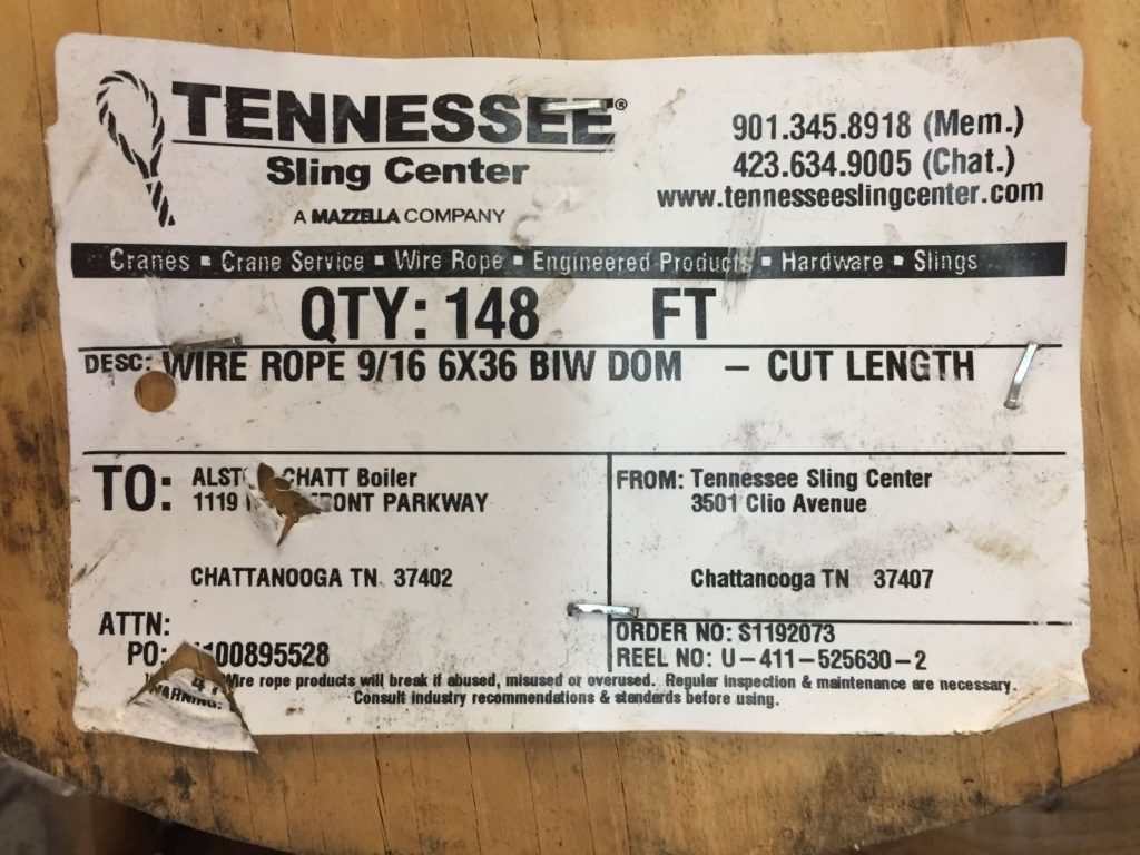 Mazzella Wire Rope 9/16 6x36 BIW DOM Approx. 200ftg - CCR Industrial